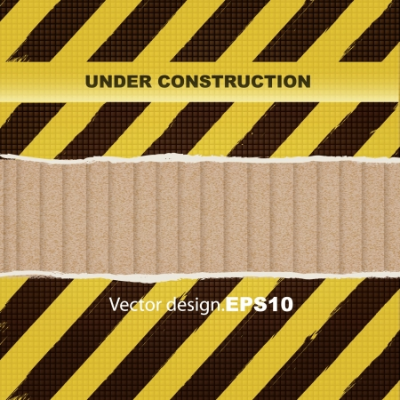 under construction abstract background  Vector