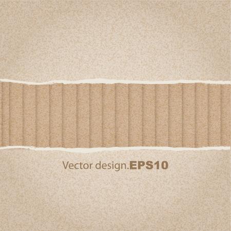 cartone strappato: strappato la carta o cartone progettazione texture di sfondo Vettoriali