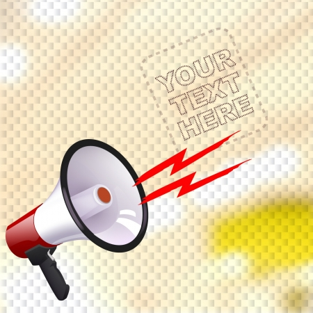 Megaphone over market background Vector