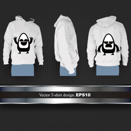 hooded top: Empty sweat t shirt with funny cartoons