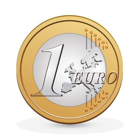 euro: one euro coin