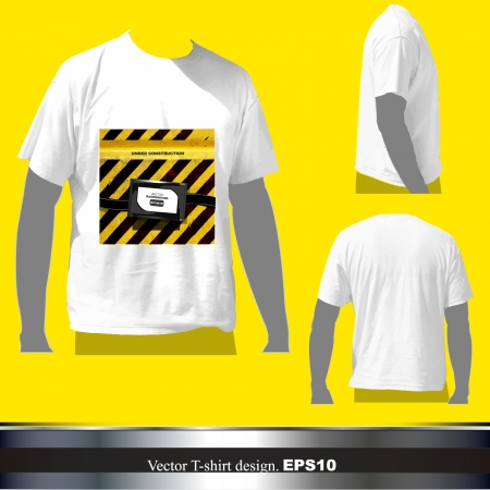 empty white shirt design Vector