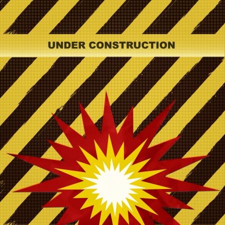 construction firm: under construction background Illustration