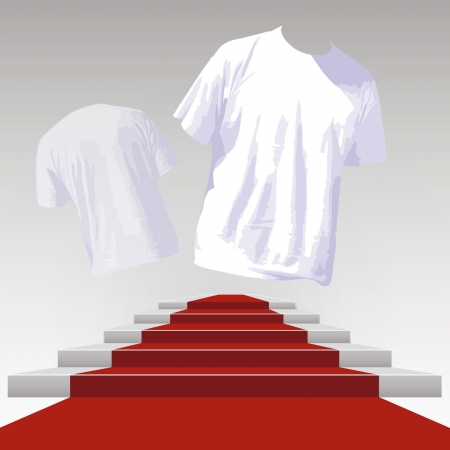 white t shirt: empty white t shirt to place your concept Illustration