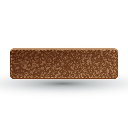 leather label: brown leather label