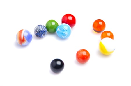 colorful glass balls photo