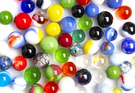 kleurrijke glazen ballen Stockfoto