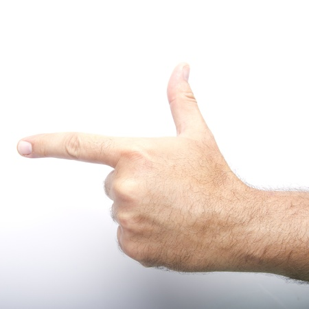 man hand pointing photo