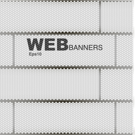 abstract geometric pattern banner Vector