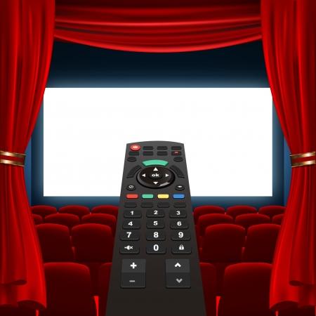 tv remote: экран пульт от телевизора и кино Иллюстрация