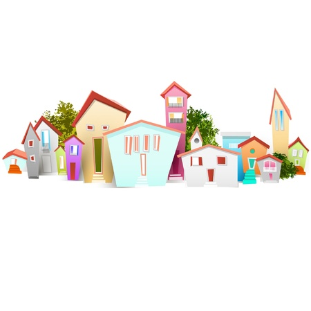 real estate: town Illustration