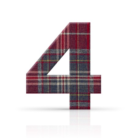 four number plaid fabric texture Stock Photo - 22781906
