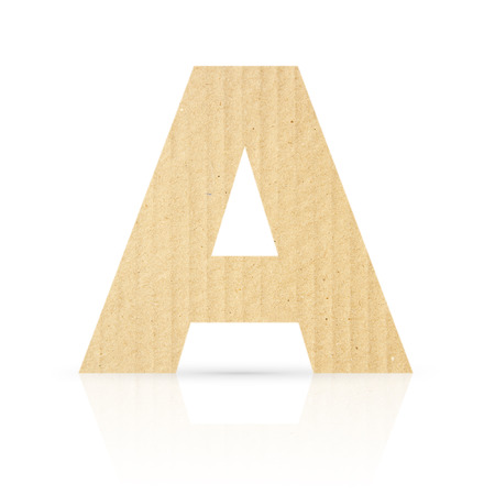 a letter cardboard texture photo