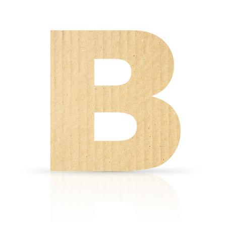 b letter cardboard texture photo
