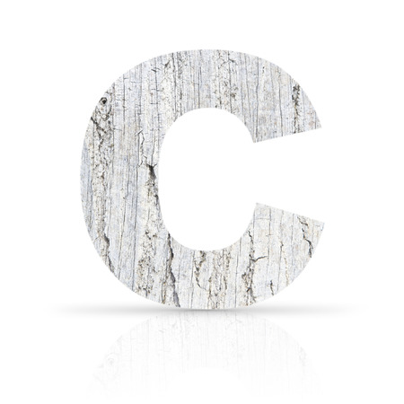 c letter white wood texture photo
