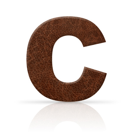 c letter leather texture photo