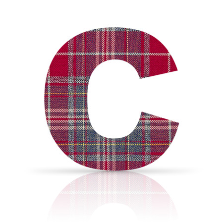 c letter plaid fabric texture photo