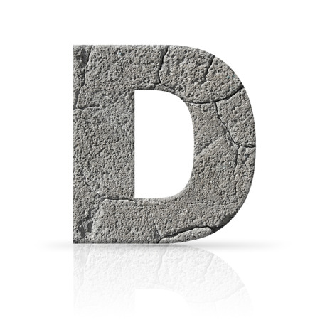 d: d  letter cracked cement texture