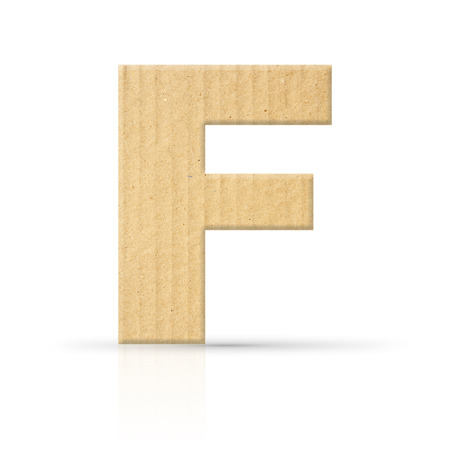 f letter cardboard texture photo