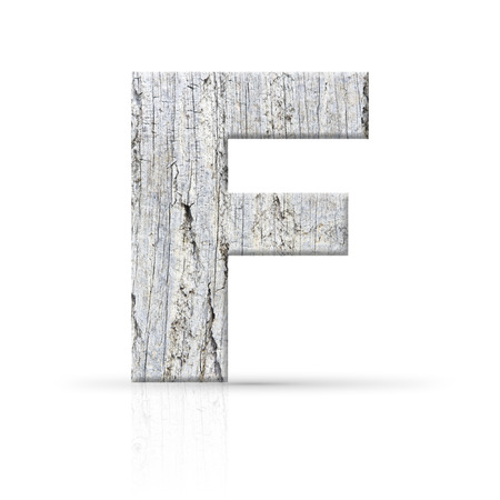 f letter white wood texture photo