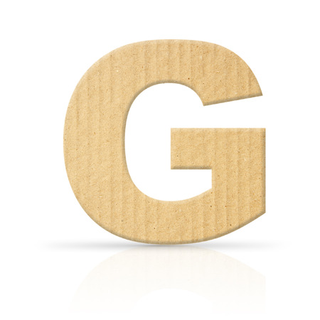 g letter cardboard texture photo