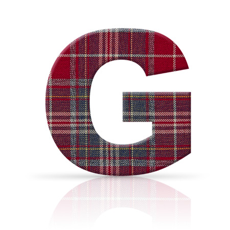 g letter plaid fabric texture photo