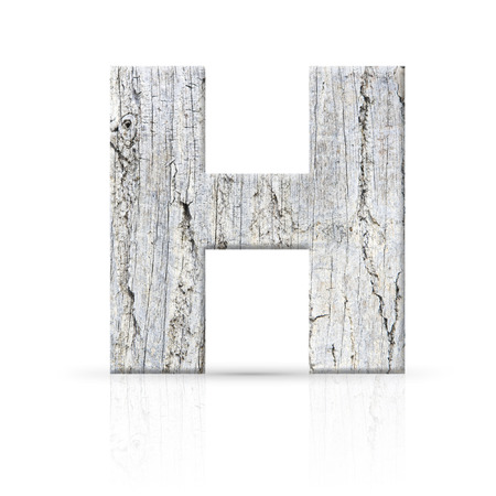 h letter white wood texture photo