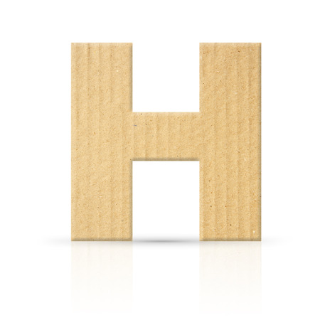 h letter cardboard texture photo