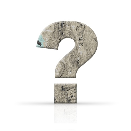 concrete question mark Stock Photo