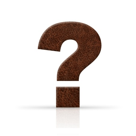 leather question mark Stock Photo
