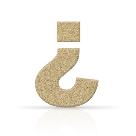 sand question mark photo