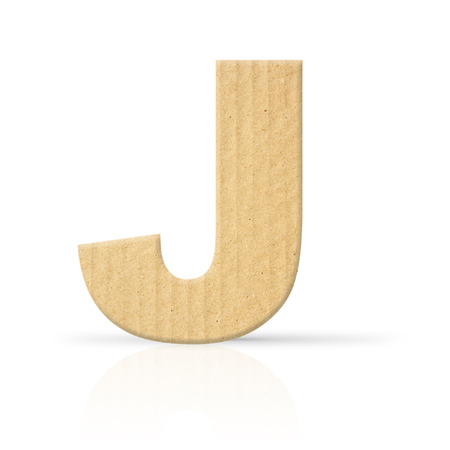 j letter cardboard texture photo