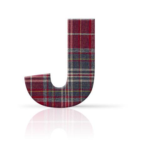 j letter plaid fabric texture Stock Photo - 22782193