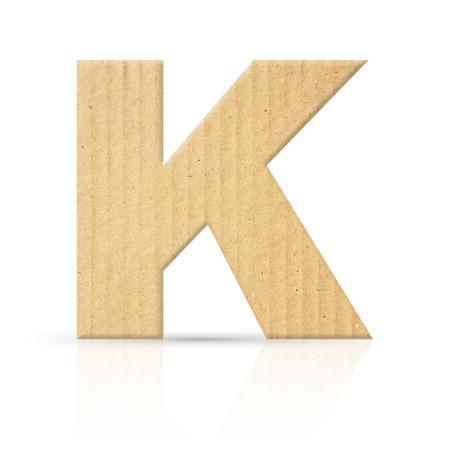 k letter cardboard texture photo
