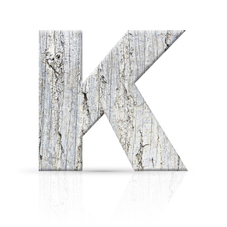 k letter white wood texture photo