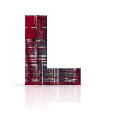l letter plaid fabric texture