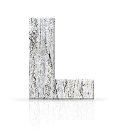 l letter white wood texture photo