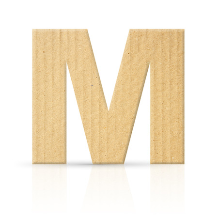 m letter cardboard texture photo