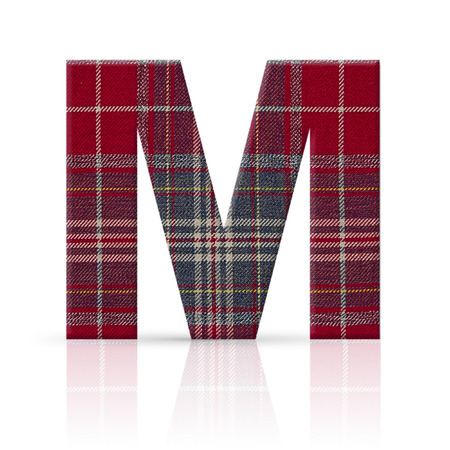 m letter plaid fabric texture photo