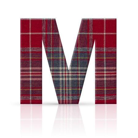 m letter plaid fabric texture Stock Photo - 22782243