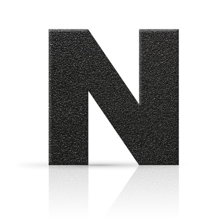 rock n: n letter asphalt texture Stock Photo