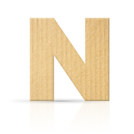 n letter cardboard texture photo