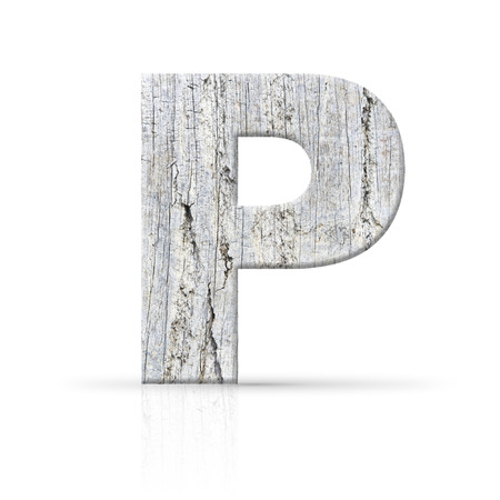 p letter white wood texture photo