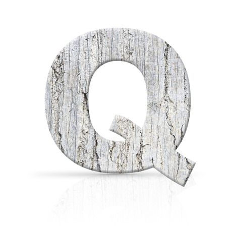 q letter white wood texture photo