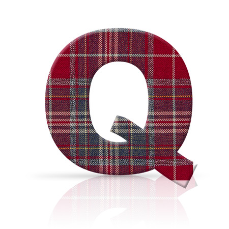 q letter plaid fabric texture photo