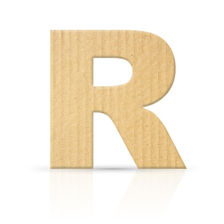r letter cardboard texture photo