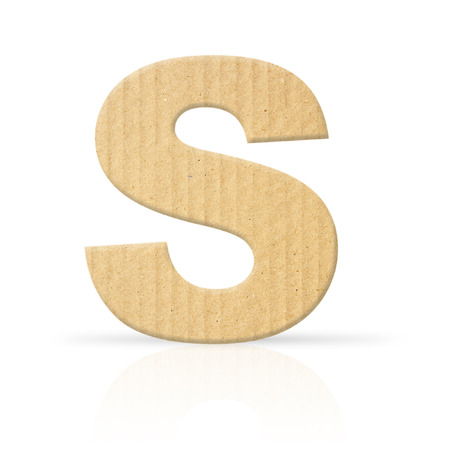 s letter cardboard texture photo
