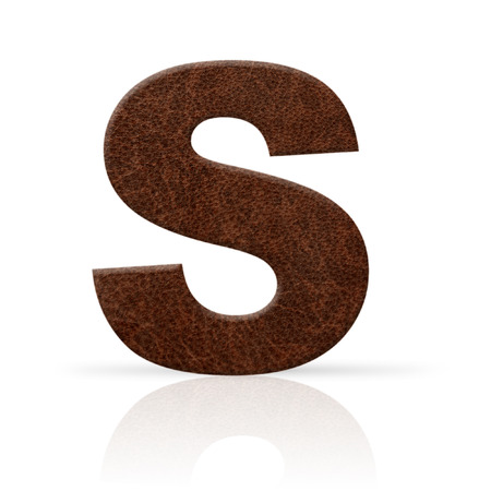 key words art: s letter leather texture