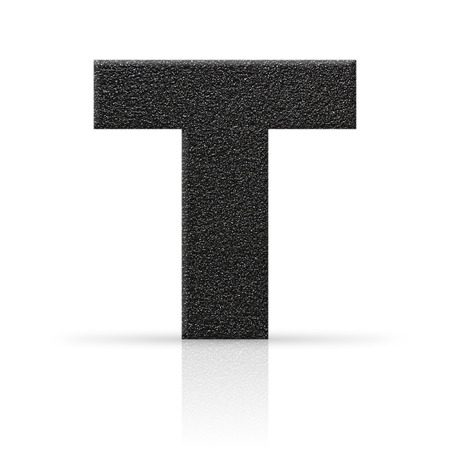 t letter asphalt texture