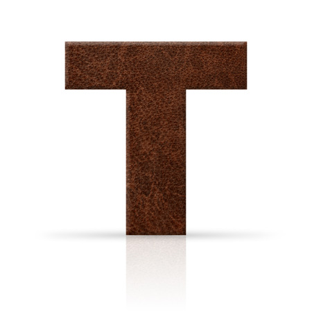 t letter leather texture photo
